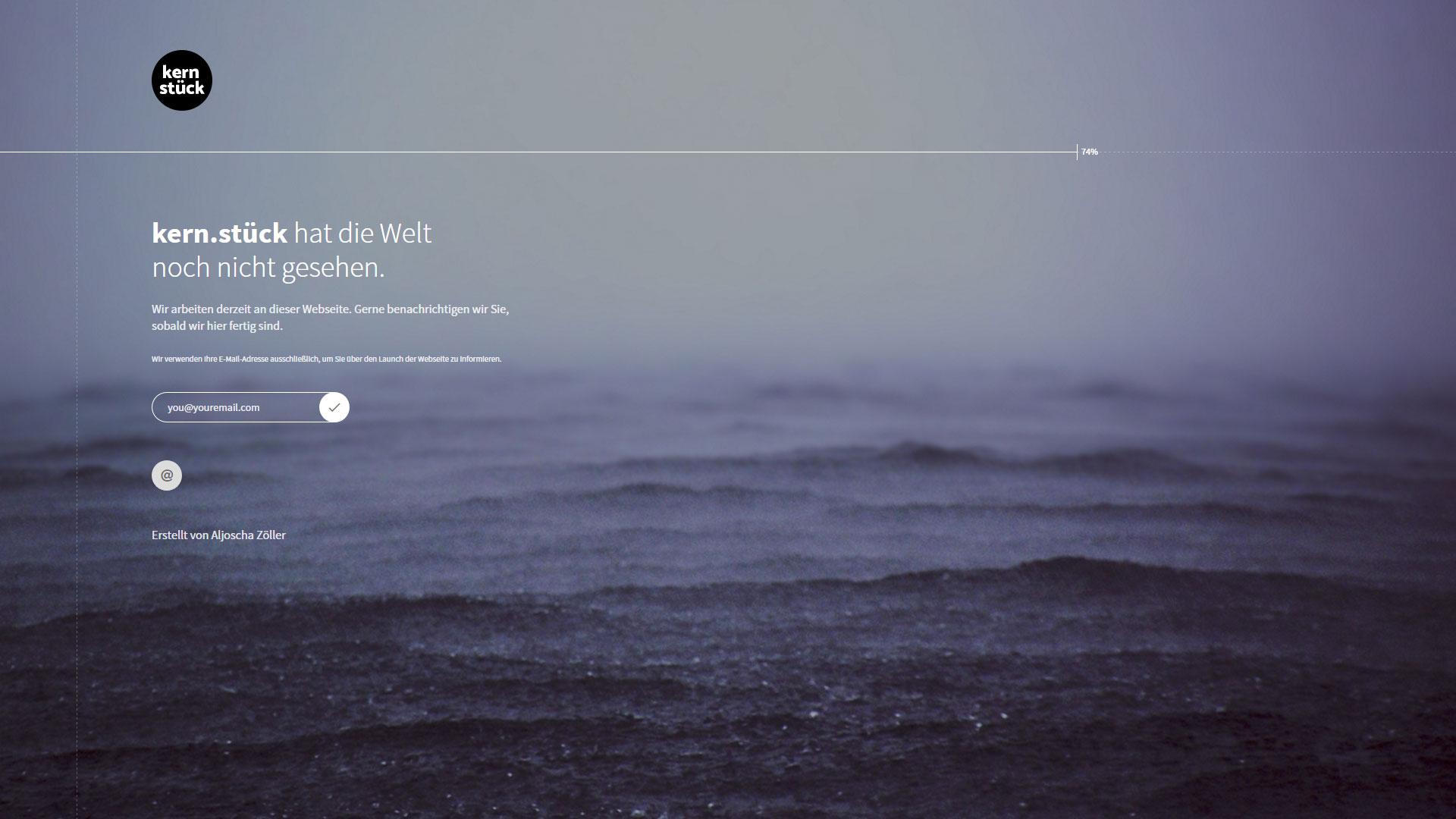 Webseite kern.stück (Coming Soon)