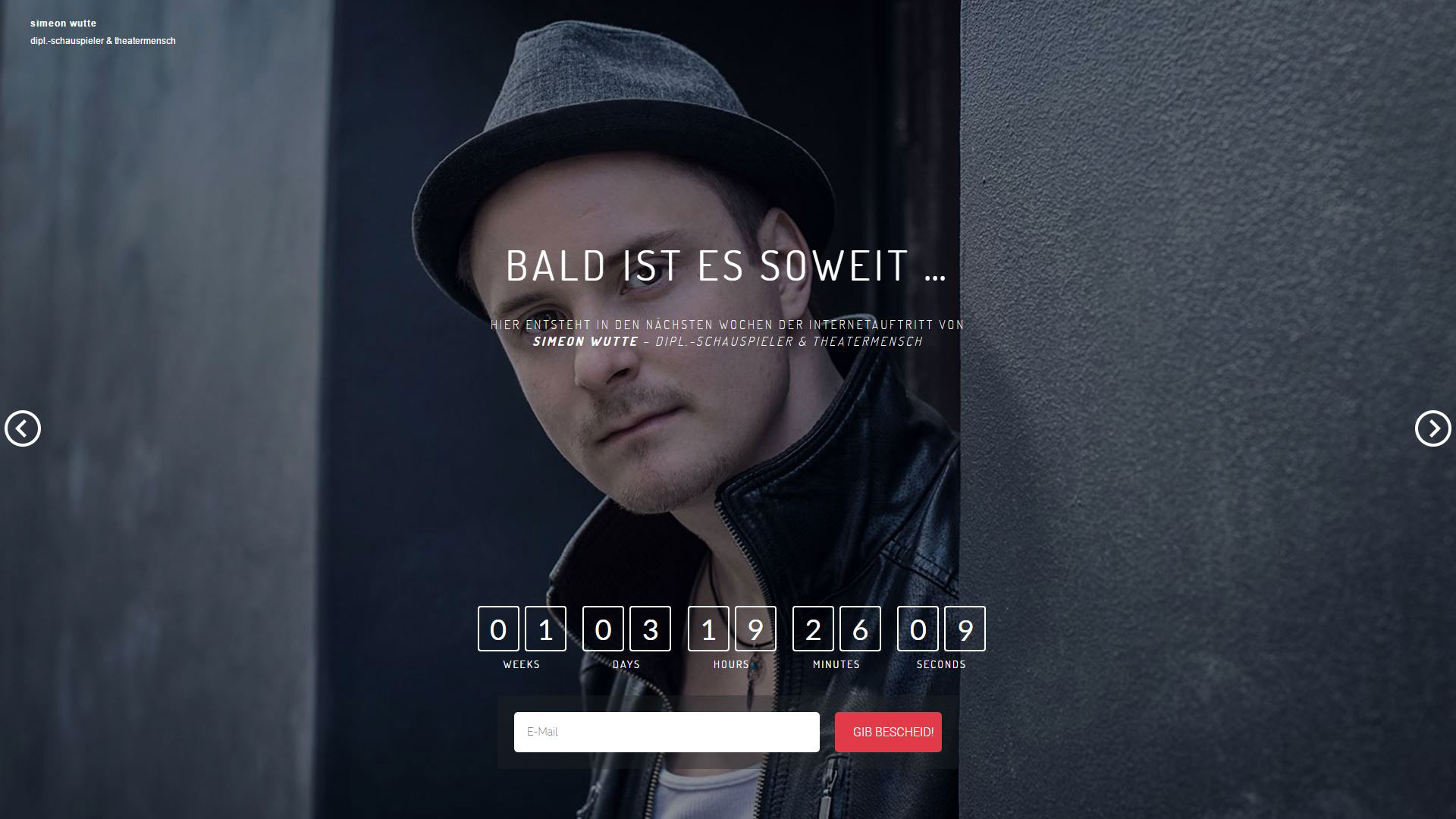 Webseite Simeon Wutte (Coming Soon)